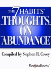 The 7 Habits Thoughts on Abundance - eBook