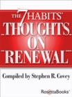 The 7 Habits Thoughts on Renewal - eBook