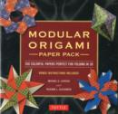 Modular Origami Paper Pack : 350 Colorful Papers Perfect for Folding in 3D - Book