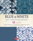 Blue & White Gift Wrapping Papers : 12 Sheets of High-Quality 18 x 24 inch Wrapping Paper - Book