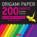 Origami Paper 200 Sheets : Rainbow Colors - Book