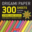 Origami Paper - Stripes and Solids - 4 inch - 300 sheets : Tuttle Origami Paper: High-Quality Origami Sheets Printed with 12 Different Designs - Book