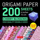 Origami Paper 200 sheets Cherry Blossoms 6 inch (15 cm) : High-Quality Origami Sheets Printed with 12 Different Colors Instructions for 8 Projects Included - Book