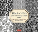 Black and White Gift Wrapping Papers - 6 sheets : 6 Sheets of High-Quality 18 x 24 inch Wrapping Paper - Book