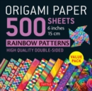 Origami Paper 500 sheets Rainbow Patterns 6 inch (15 cm) - Book