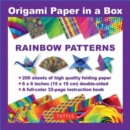 Origami Paper in a Box - Rainbow Patterns - Book