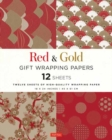 Red and Gold Gift Wrapping Papers : 12 Sheets of High-Quality 18 x 24 inch Wrapping Paper - Book