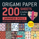 Origami Paper 200 sheets Japanese Dolls 6 inch (15 cm) - Book