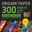 Origami Paper 300 sheets Nature Photo Patterns 4 inch (10 cm) - Book