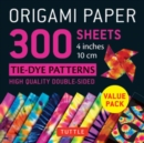 Origami Paper 300 sheets Tie-Dye Patterns 4 inch (10 cm) - Book