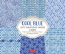 Cool Blue Gift Wrapping Papers : 6 Sheets of High-Quality 24 x 18 inch Wrapping Paper - Book