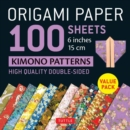"Origami Paper 100 sheets Kimono Patterns 6"" (15 cm) : High-Quality Double-Sided Origami Sheets Printed with 12 Different Patterns (Instructions for 6 Projects Included) - Book"