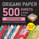 "Origami Paper 500 sheets Chiyogami Patterns 4"" (10 cm) : Tuttle Origami Paper: High-Quality Double-Sided Origami Sheets Printed with 12 Different Designs - Book"