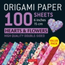 "Origami Paper 100 sheets Hearts & Flowers 6"" (15 cm) : Tuttle Origami Paper: High-Quality Double-Sided Origami Sheets Printed with 12 Different Patterns: Instructions for 6 Projects Included - Book"
