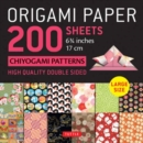 "Origami Paper 200 sheets Chiyogami Patterns 6 3/4"" (17cm) : Tuttle Origami Paper: High Quality, Double-Sided Origami Sheets with 12 Different Patterns (Instructions for 6 Projects Included) - Book"