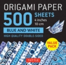 "Origami Paper 500 sheets Blue and White 4"" (10cm) : Tuttle Origami Paper: High Quality Double-Sided Origami Sheets Printed with 12 Different Designs - Book"