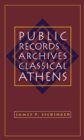 Public Records and Archives in Classical Athens - eBook