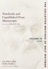 Notebooks and Unpublished Prose Manuscripts: Volume IV : Notes - Book