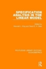 Specification Analysis in the Linear Model - Book