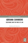 Adriana Cavarero : Resistance and the Voice of Law - Book