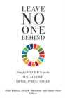 Leave No One Behind : Time for Specifics on the Sustainable Development Goals - Book