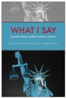 What I Say : Innovative Poetry by Black Writers in America - eBook