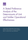A Stated Preference Analysis of the Determinants of Unit and Soldier Operational Effectiveness - Book