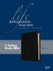 KJV Life Application Study Bible Large Print, Burgundy - Book