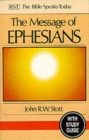 The Message of Ephesians : God's New Society With Study Guide - Book