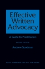 Effective Written Advocacy : A Guide for Practitioners - Book