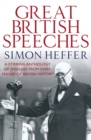 The Great British Speeches - Book