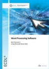 ECDL Word Processing Software Using Word 2016 (BCC ITQ Level 2) - Book