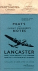 Air Ministry Pilot's Notes : Lancaster I, III and X - Book