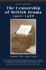 The Censorship of British Drama 1900-1968 Volume 1 : Volume One 1900-1932 - eBook