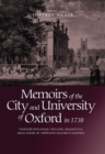Memoirs of the City and University of Oxford in 1738 : Together with Poems, Odd Lines, Fragments & Small Scraps, by `Shepilinda' (Elizabeth Sheppard) - Book