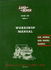 Land Rover Series I Workshop Manual - Book