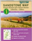 Sandstone Way Cycle Route Map - Northumberland : Between Berwick Upon Tweed and Hexham - Book