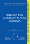 Research into Secondary School Curricula - eBook