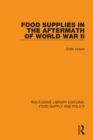 Food Supplies in the Aftermath of World War II - eBook