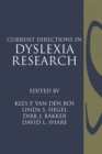 Current Directions in Dyslexia Research - eBook