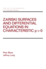 Zariski Surfaces and Differential Equations in Characteristic P < O - eBook