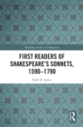 First Readers of Shakespeare's Sonnets, 1590-1790 - eBook