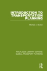 Introduction to Transportation Planning - eBook