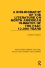 A Bibliography of the Literature on North American Climates of the Past 13,000 Years - eBook
