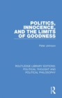 Politics, Innocence, and the Limits of Goodness - eBook
