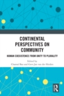 Continental Perspectives on Community : Human Coexistence from Unity to Plurality - eBook