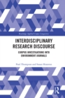 Interdisciplinary Research Discourse : Corpus Investigations into Environment Journals - eBook