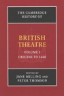 The Cambridge History of British Theatre 3 Volume Paperback Set - Book