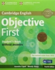 Objective First Student's Pack (Student's Book without Answers with CD-ROM, Workbook without Answers with Audio CD) - Book