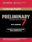 Cambridge English Preliminary 7 Student's Book with Answers - Book